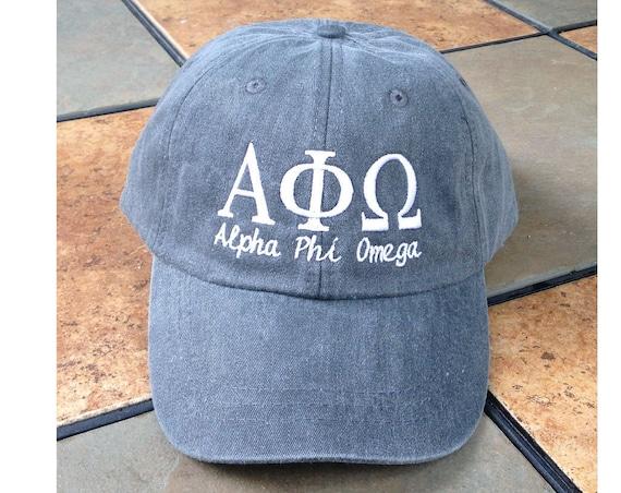 Alpha Phi Omega script baseball cap