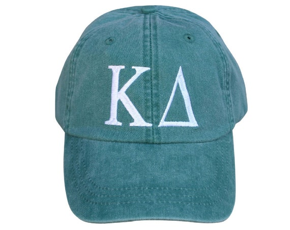 Kappa Delta baseball cap with embroidered greek letters