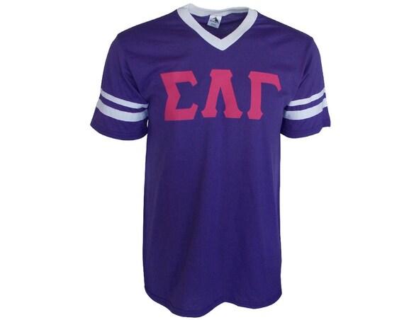 Sigma Lambda Gamma - Stripe Sleeve T-shirt Jersey