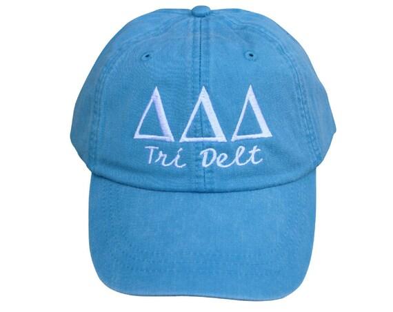 Delta Delta Delta with script baseball cap (Tri Delt)