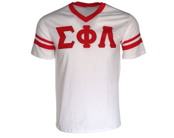 Sigma Phi Lambda - Stripe Sleeve T-shirt Jersey