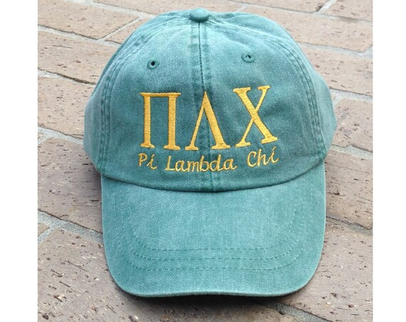 Pi Lambda Chi with script baseball cap