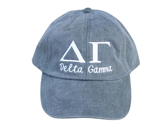 Delta Gamma with script baseball cap