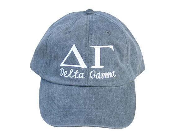 Delta Gamma with script baseball cap