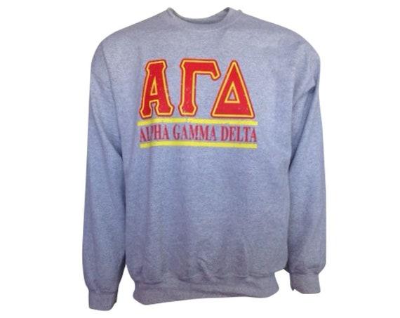 Alpha Gamma Delta Bar Design Sweatshirt
