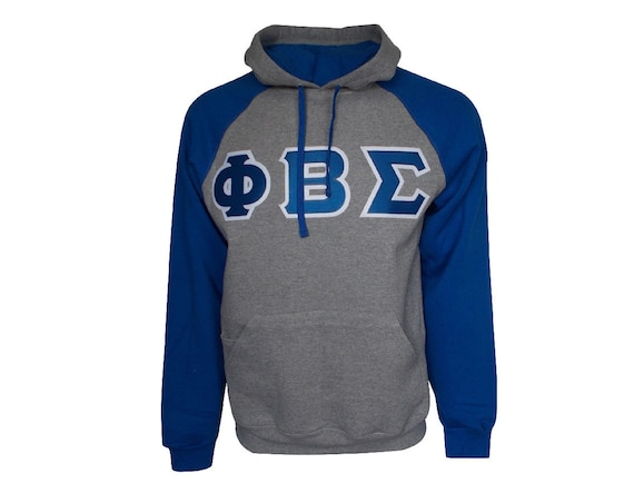 Phi Beta Sigma Color Block Hooded Sweatshirt