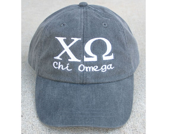 Custom Greek Letter Script Design Baseball Cap