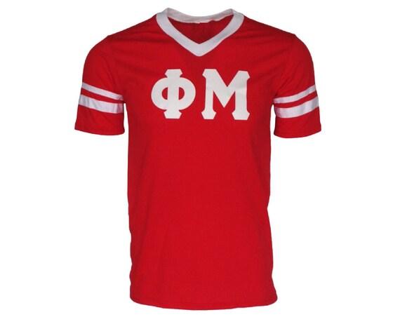 Phi Mu - Stripe Sleeve T-shirt Jersey