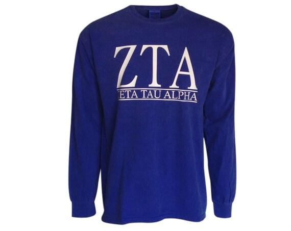 Zeta Tau Alpha - Bar Design Long Sleeve T-shirt
