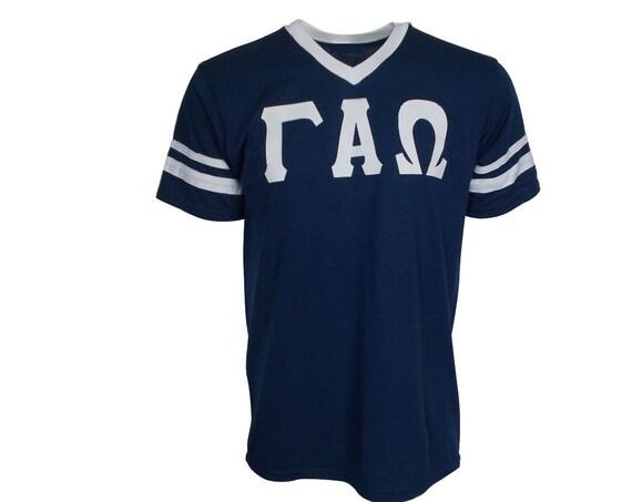 Gamma Alpha Omega - Stripe Sleeve T-shirt Jersey