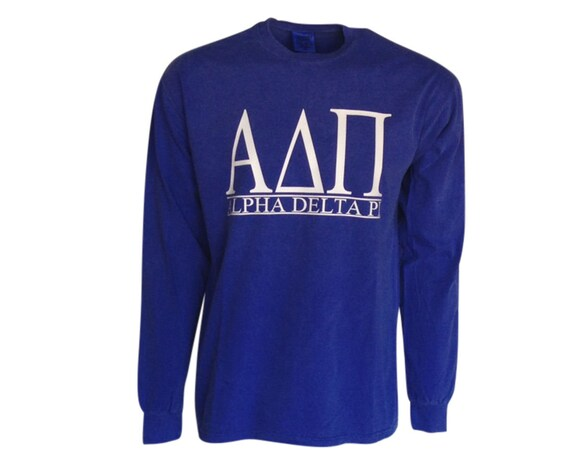 Alpha Delta Pi - Bar Design Long Sleeve T-shirt