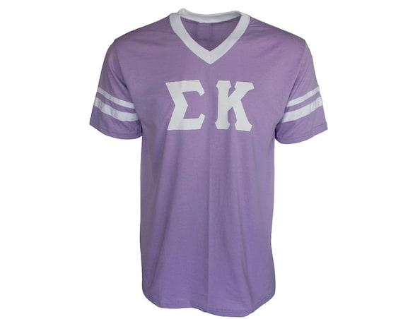 Sigma Kappa - Stripe Sleeve T-shirt Jersey