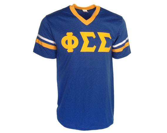 Phi Sigma Sigma - Stripe Sleeve T-shirt Jersey