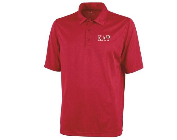 Kappa Alpha Psi short sleeve heathered polo shirt