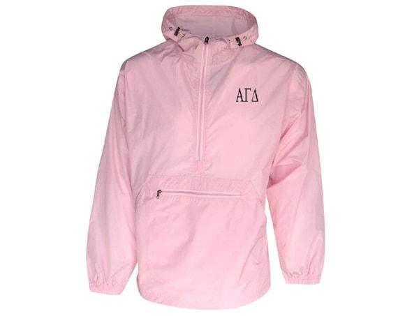 Alpha Gamma Delta Unlined Anorak (Pink)
