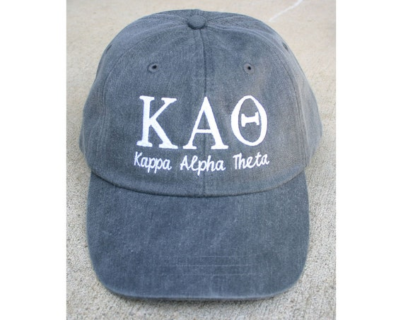 Kappa Alpha Theta with script baseball cap