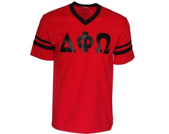 Delta Phi Omega - Stripe Sleeve T-shirt Jersey