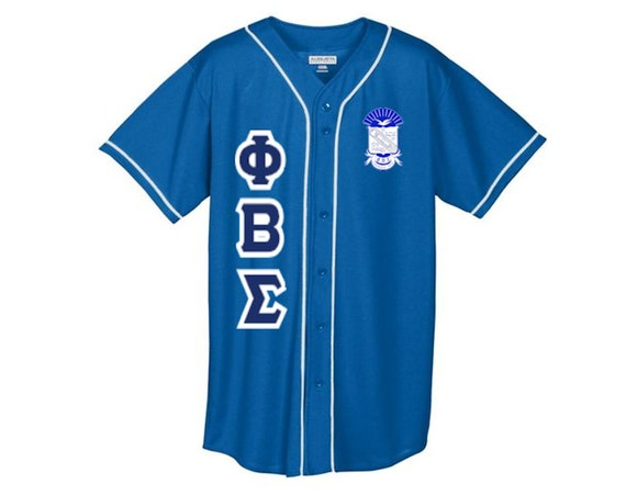 Phi Beta Sigma Crest Baseball Jersey