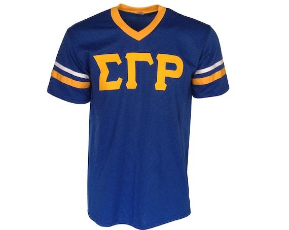 Sigma Gamma Rho - Stripe Sleeve T-shirt Jersey