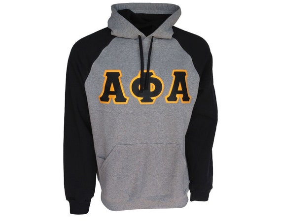 Alpha Phi Alpha Color Block Hooded Sweatshirt (Sewn on Letters)