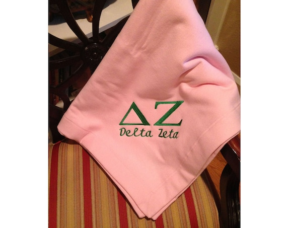 Delta Zeta Embroidered Fleece Blanket