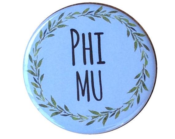 Phi Mu Buttons