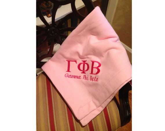 Custom Embroidered Sorority Fleece Blanket