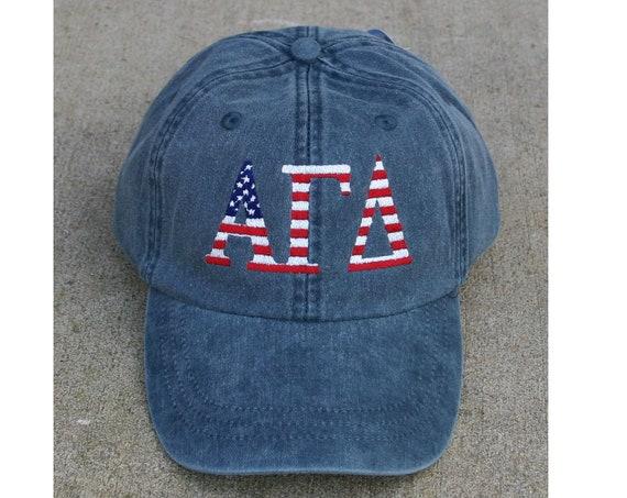 Alpha Gamma Delta American Flag Cap