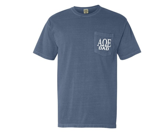 Alpha Omega Epsilon Dad Comfort Color Pocket T-shirt