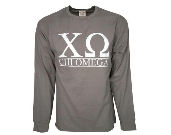 Chi Omega - Bar Design Long Sleeve T-shirt