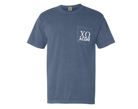 Chi Omega Alum Comfort Color Pocket T-shirt