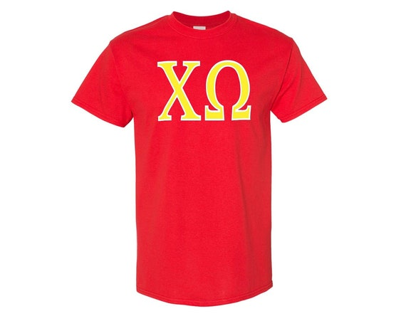 Chi Omega - T-shirt - 2 color letters