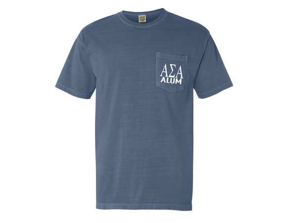 Alpha Sigma Alpha Alum Comfort Color Pocket T-shirt