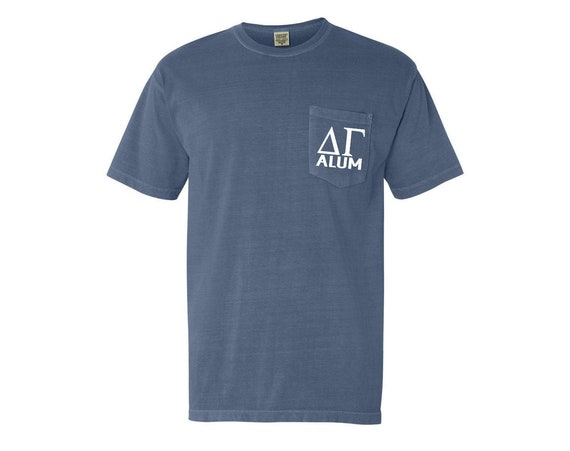 Delta Gamma Alum Comfort Color Pocket T-shirt