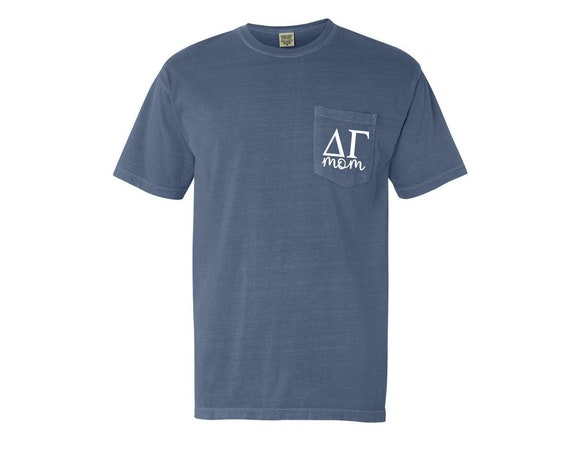 Delta Gamma Mom Comfort Color Pocket T-shirt