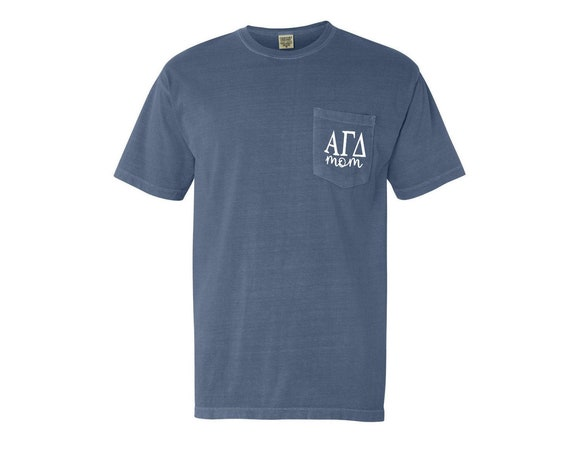 Alpha Gamma Delta Mom Comfort Color Pocket T-shirt