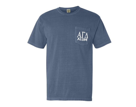 Alpha Gamma Delta Alum Comfort Color Pocket T-shirt