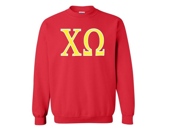 Chi Omega - Sweatshirt - 2 color letters