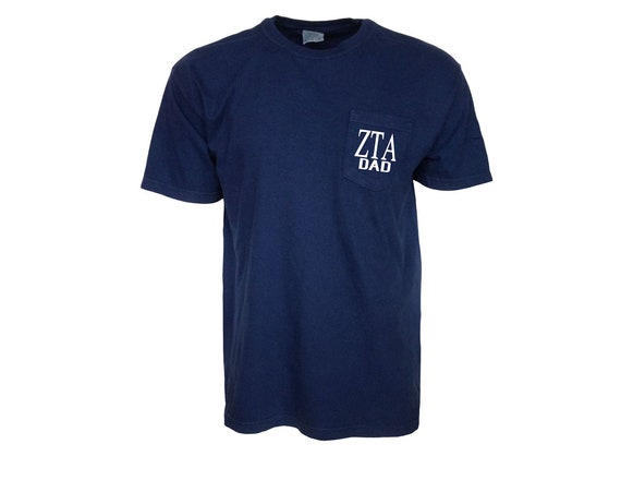 Zeta Tau Alpha Dad Comfort Color Pocket T-shirt
