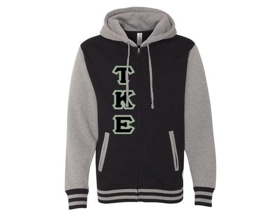 Tau Kappa Epsilon Varsity Full Zip Hooded Sweatshirt
