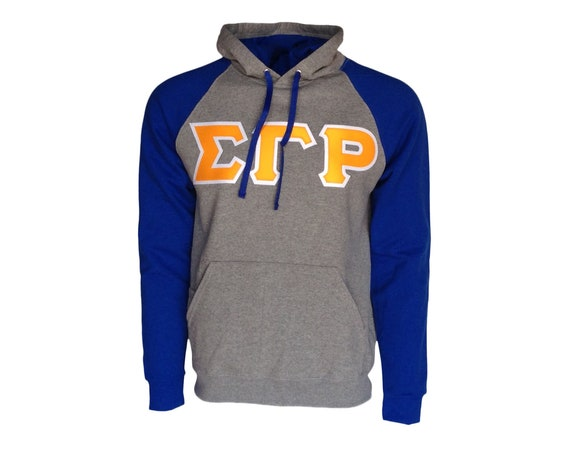 Sigma Gamma Rho Color Block Hooded Sweatshirt (Sewn on Letters)