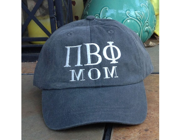 Custom Greek Letter MOM baseball cap