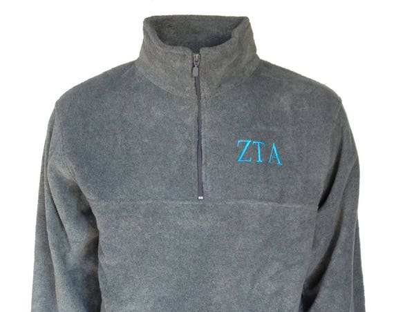 Zeta Tau Alpha Fleece Quarter Zip Pullover
