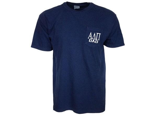 Alpha Delta Pi Dad Comfort Color Pocket T-shirt