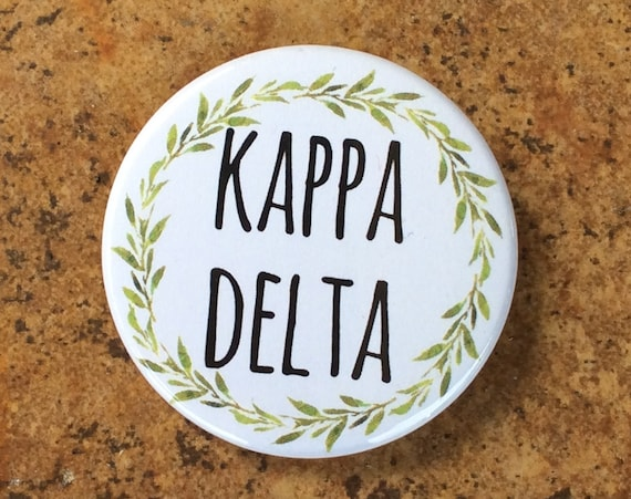 Kappa Delta Button with Green Wreath