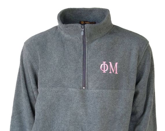 Phi Mu Fleece Quarter Zip Pullover