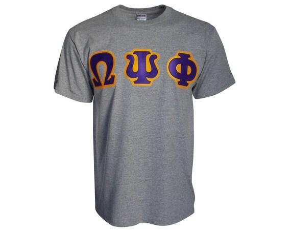 Omega Psi Phi Letter T-shirt