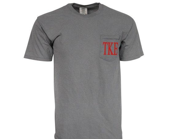 Tau Kappa Epsilon Comfort Color Pocket T-shirt