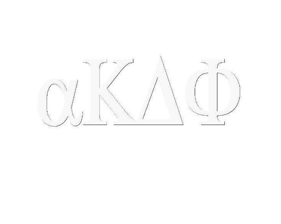 alpha Kappa Delta Phi Window Decal