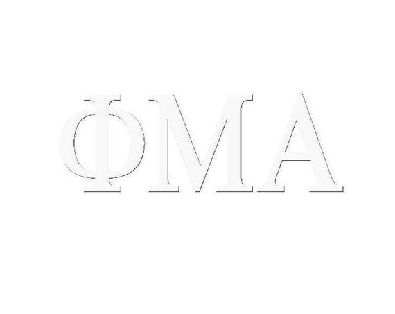 Custom Greek Letter Window Decal